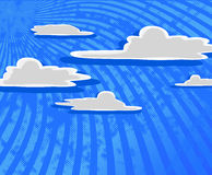 Cartoon clouds with blue sky. Stock Photography