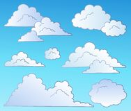 Cartoon clouds collection Stock Photos