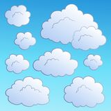 Cartoon clouds collection 2 Stock Photography