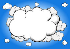Cartoon clouds  with copy space in sky Stock Photography