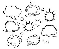 Cartoon clouds and explosions Royalty Free Stock Image