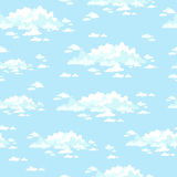 Cartoon clouds. Seamless  pattern. Fluffy clouds in the clear sky. Seamless  background Royalty Free Stock Photo