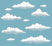 Cartoon clouds set Stock Image
