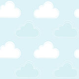 Cartoon clouds Royalty Free Stock Image