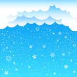 Cartoon clouds sky snow Royalty Free Stock Images