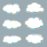 Cartoon clouds. Stock Photo