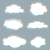 Cartoon clouds. Stock Images