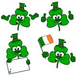 Cartoon Clover Collection Royalty Free Stock Photo