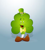 Cartoon Clover Leaf Royalty Free Stock Images