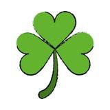 Cartoon clover leafs saint patrick day ornament Stock Photos