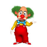 Cartoon clown. 3d cartoon cute holiday clown Stock Images