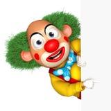 Cartoon clown. 3d cartoon cute holiday clown Stock Photography