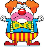 Cartoon Clown Angry. A cartoon illustration of a clown with an angry expression Royalty Free Stock Photography