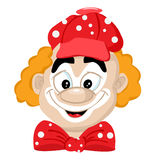 Cartoon clown in a cap Royalty Free Stock Photography