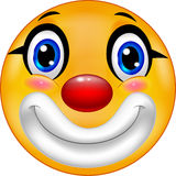 Cartoon Clown emoticon. Illustration of Cartoon Clown emoticon Royalty Free Stock Photography