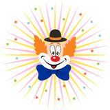 Cartoon Clown Face Stock Images