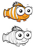 Cartoon clown fish. An illustration of a funny cartoon clown fish Royalty Free Stock Images