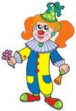 Cartoon clown girl. Vector illustration Royalty Free Stock Image