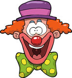 Cartoon clown head Royalty Free Stock Photos