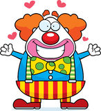 Cartoon Clown Hug Stock Photography