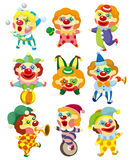 Cartoon clown icon Stock Photos