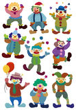 Cartoon clown icon Stock Image