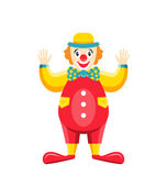 Cartoon Clown Isolated on White Background, Party Funny Man Stock Images