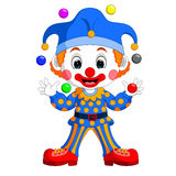 Cartoon clown playing balls Royalty Free Stock Photos