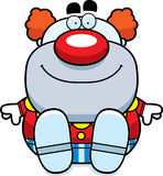Cartoon Clown Sitting Stock Photography