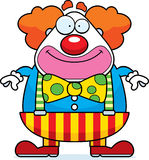 Cartoon Clown Smiling. A happy cartoon clown standing and smiling Royalty Free Stock Images