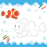 Cartoon clownfish Royalty Free Stock Photography