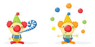 Cartoon clowns Stock Images