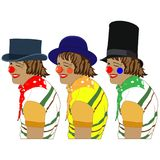 Cartoon Clowns. Vector illustration, circus Royalty Free Stock Photos