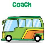 Cartoon of coach bus transportation Stock Photography