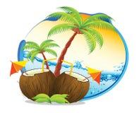 Cartoon coastline. A new cartoon coastline illustration royalty free illustration