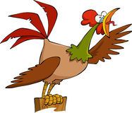 Cartoon cock Royalty Free Stock Photo