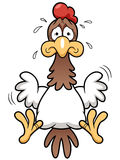 Cartoon Cock scared Royalty Free Stock Images
