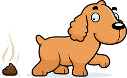 Cartoon Cocker Spaniel Poop Stock Photos