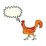 cartoon cockerel with speech bubble Stock Photo