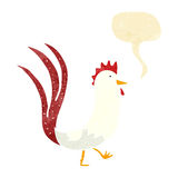 Cartoon cockerel with speech bubble Royalty Free Stock Photos