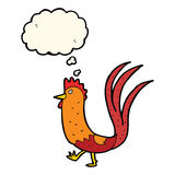cartoon cockerel with thought bubble Royalty Free Stock Photography