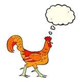 cartoon cockerel with thought bubble Stock Photos