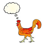 cartoon cockerel with thought bubble Stock Photo