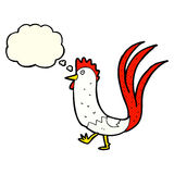 Cartoon cockerel with thought bubble Stock Images