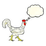 Cartoon cockerel with thought bubble Stock Photography