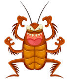 Cartoon cockroach Royalty Free Stock Photo