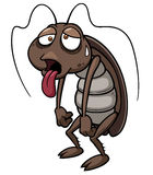 Cartoon cockroach Royalty Free Stock Images
