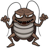 Cartoon cockroach Stock Photos