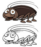 Cartoon cockroach Royalty Free Stock Image