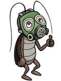 Cartoon cockroach Stock Images